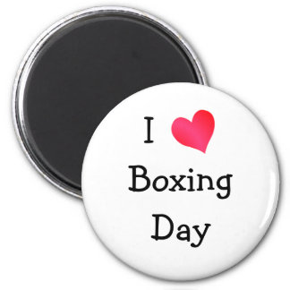 I Love Boxing Day Magnet