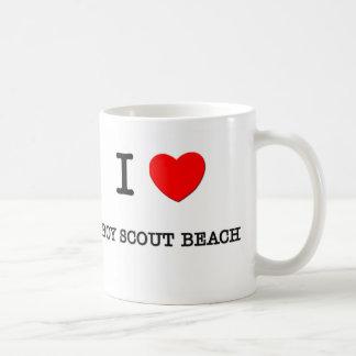 I Love BOY SCOUT BEACH Maryland Coffee Mugs