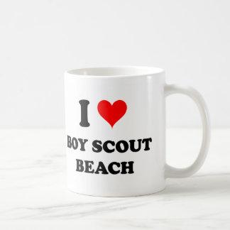 I Love Boy Scout Beach Mugs