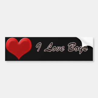 I Love Boys Bumper Sticker