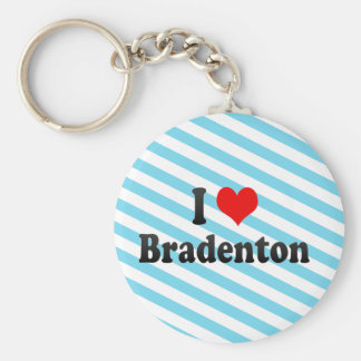 I Love Bradenton, United States Basic Round Button Key Ring
