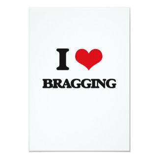 """I Love Bragging 3.5"""" X 5"""" Invitation Card"""