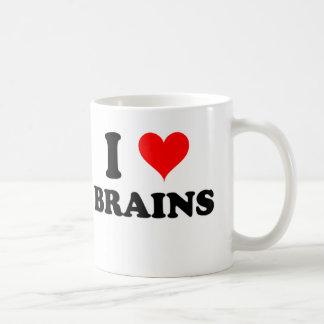 I Love Brains Basic White Mug