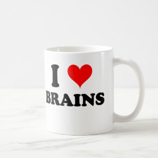 I Love Brains Classic White Coffee Mug