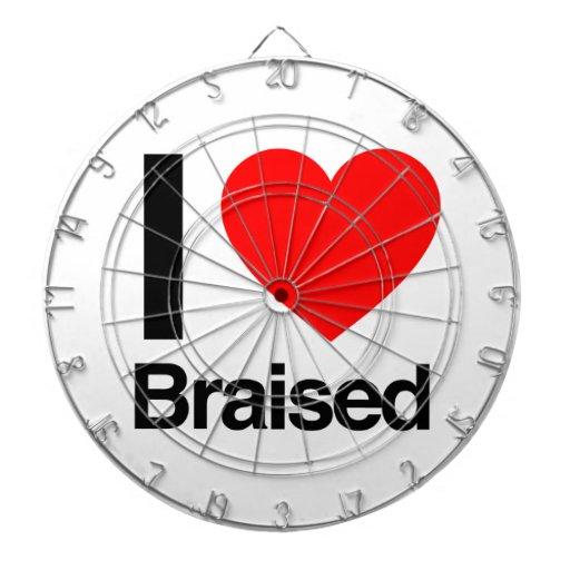 i love braised dartboard with darts