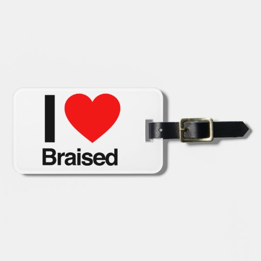 i love braised tag for luggage