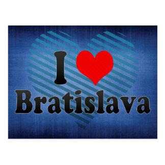 I Love Bratislava, Slovakia Postcard