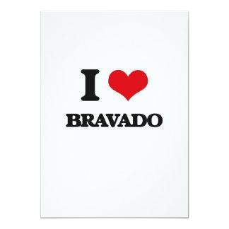"I Love Bravado 5"" X 7"" Invitation Card"