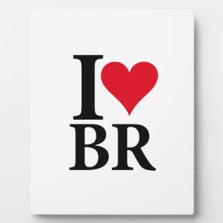 I Love Brazil BR Edition Plaque