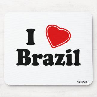 I Love Brazil Mousepads