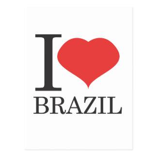i love brazil postcard