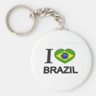 I Love Brazil stuff Basic Round Button Key Ring