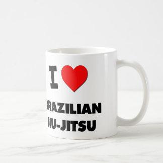I Love Brazilian Jiu-Jitsu Basic White Mug