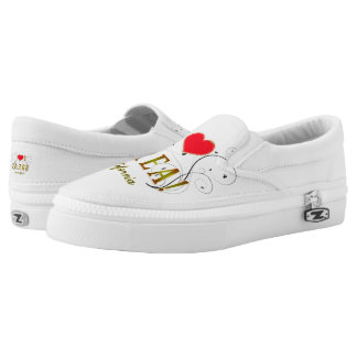 I Love Brea Ca. Zipz Slip On-Shoes US-Women Printed Shoes