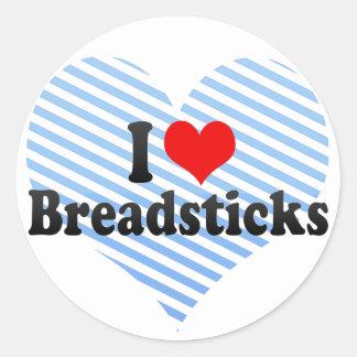 I Love Breadsticks Sticker