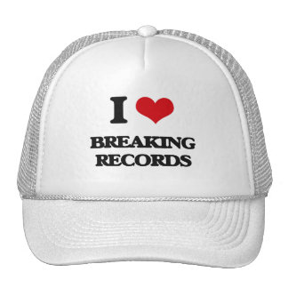 I Love Breaking Records Hats
