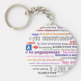 I love Breastfeeding Multi Language Key Ring