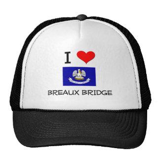 I Love BREAUX BRIDGE Louisiana Trucker Hat