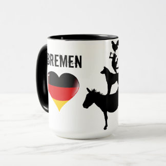 I love Bremen Mug with the Four Musicians