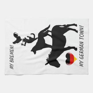 I love Bremen - With Four Town Musicians Tea Towel