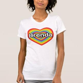 I love Brenda: rainbow heart T-shirt