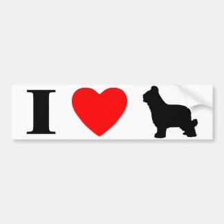 I Love Briards Bumper Sticker