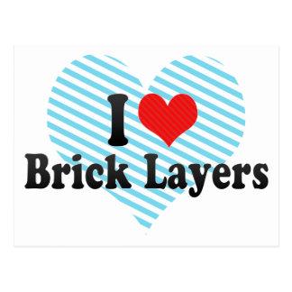 I Love Brick Layers Post Cards