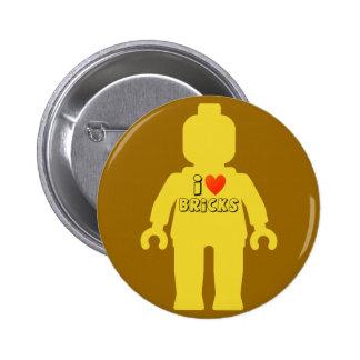 I Love Bricks Minifig Button