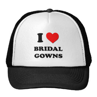 I Love Bridal Gowns Mesh Hats