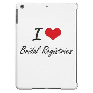 I Love Bridal Registries Artistic Design iPad Air Cover