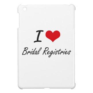 I Love Bridal Registries Artistic Design iPad Mini Cover