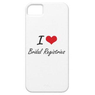 I Love Bridal Registries Artistic Design iPhone 5 Cover