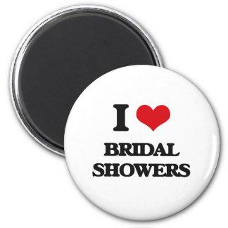 I Love Bridal Showers Refrigerator Magnet