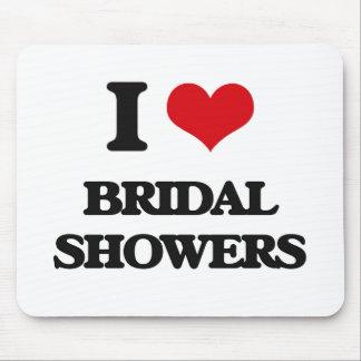I Love Bridal Showers Mousepads