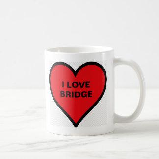 I LOVE BRIDGE COFFEE MUG