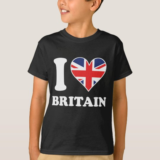 I Love Britain British Flag Heart T-Shirt