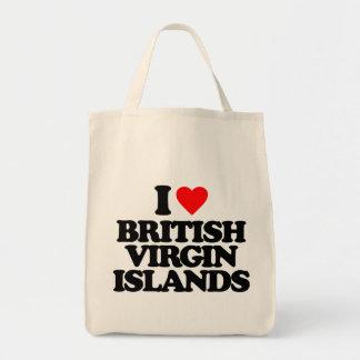 I LOVE BRITISH VIRGIN ISLANDS CANVAS BAGS