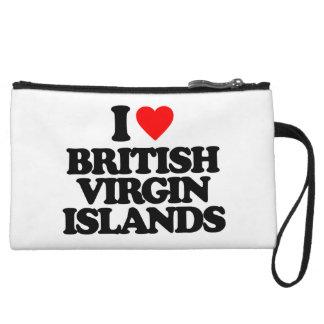 I LOVE BRITISH VIRGIN ISLANDS WRISTLET CLUTCH