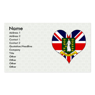 I Love British Virgin Islands Business Card Template