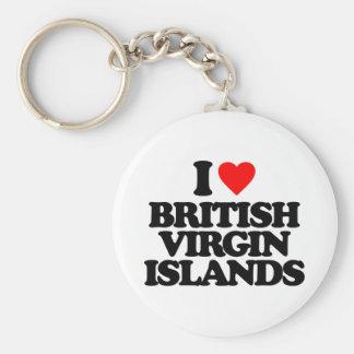 I LOVE BRITISH VIRGIN ISLANDS KEY CHAINS