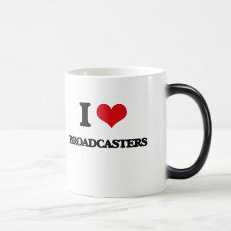 I Love Broadcasters Coffee Mugs