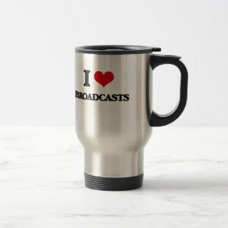 I Love Broadcasts Coffee Mugs