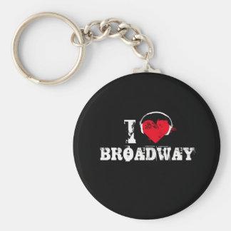 I love broadway key ring