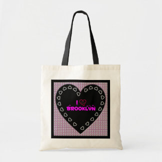 I Love Brooklyn Diamonds Heart Tote Bag