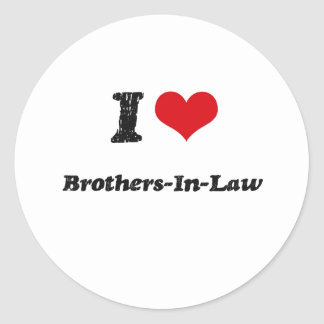 I Love BROTHERS-IN-LAW Sticker