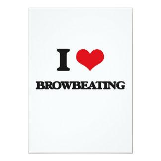 "I Love Browbeating 5"" X 7"" Invitation Card"