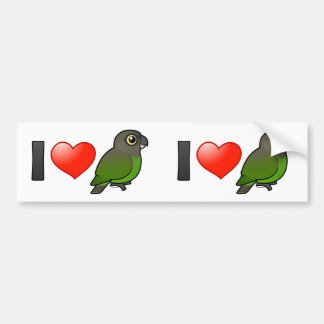 I Love Brown-headed Parrots Bumper Sticker
