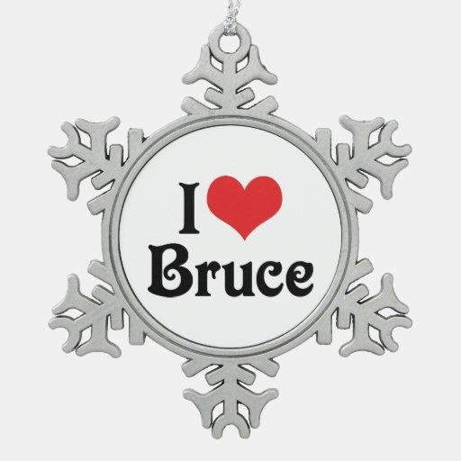I Love Bruce Ornament