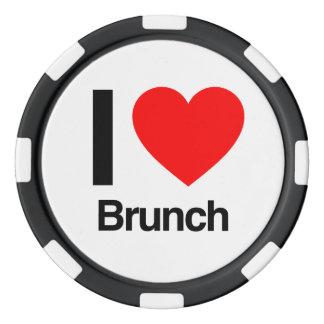 i love brunch poker chips