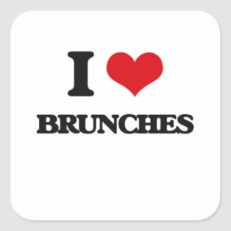 I Love Brunches Square Sticker
